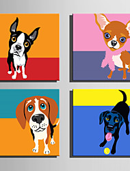 E-HOME® Stretched Canvas Art Lovely Dog Series Decoration Painting MINI SIZE One Pcs