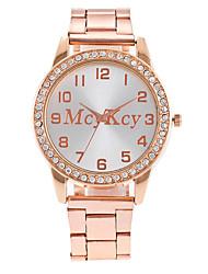 Mujer Reloj de Vestir Reloj de Moda Reloj de Pulsera Reloj creativo único Reloj Casual Simulado Diamante Reloj Chino Cuarzo Metal Aleación