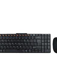 E Element E300 2000DPI USB Wireless Slim Multimedia Keyboard Mouse Set Black and white