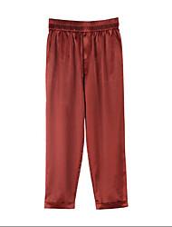 Femme simple Street Chic Taille Haute Extensible Cigarettes Entreprise Pantalon,Mince Couleur Pleine
