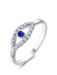 Women's Ring  Adorable Elegant Platinum Sapphire AAA Cubic Zirconia Titanium Steel Geometric Jewelry For Wedding Anniversary Party Daily