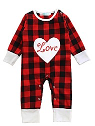 Baby Plaid/Check One-Pieces Cotton Spring/Fall Winter Long Sleeve Love Heart Design Newborn Boys Girls Infant Romper Bodysuits Jumpsuits