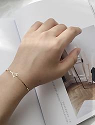 Mulheres Bracelete Moda Liga Forma Geométrica Triangular Jóias Para Casual