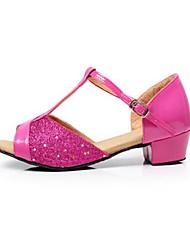 Women's Kids' Dance Shoes PU Heels Practice Ruby