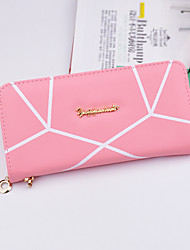 Women Money Clip PU All Seasons Shopping Daily Casual Square Zipper Blushing Pink Sky Blue Fuchsia Purple Gray