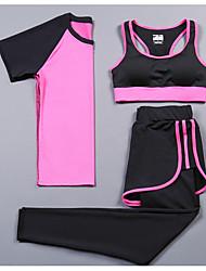 Femme Manches Courtes Course / Running Survêtement Vêtements de Compression/Sous maillotCyclisme Fitness, course et yoga La navigation de