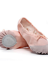 Women's Ballet Canvas Fabric Flats Practice Nude Ruby Black