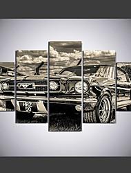 Impression sur Toile Abstrait,Cinq Panneaux Toile Format Horizontal Imprimé Décoration murale For Décoration d'intérieur