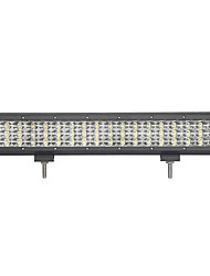 162w-row 16200lm lumière de travail pour voiture / bateau / phare 162w type / c 6000k led blanc combo double rangées 9v-32v