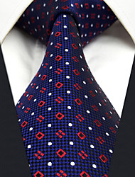 Homme Rétro Soirée Travail Décontracté Bureau / Affaires Haute qualité Mode Soie Cravate Toutes les Saisons