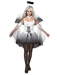 Costumes de Cosplay Ailes Casque Costume de Soirée Ange et Diable Fête / Célébration Déguisement d'Halloween Noir/blanc Rétro Other Robes