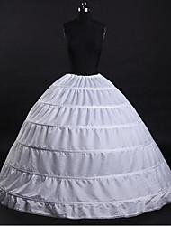 Anáguas Tradicional/Vintage Básico Casamento Fashion Comprido Tafetá