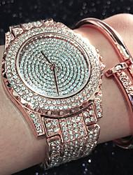 Mujer Reloj de Moda Reloj Pulsera Reloj creativo único Reloj Casual Simulado Diamante Reloj Reloj de Cristal Pavé Chino Cuarzo Resistente