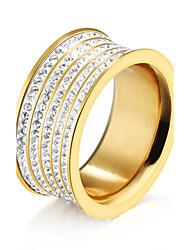 Women's Ring  Classic Elegant AAA Cubic Zirconia Titanium Steel Ring Jewelry For Wedding Anniversary Party/Evening