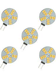 2,5 W Luminárias de LED  Duplo-Pin 15 SMD 5630 220 lm Branco Quente Branco DC 12 V 5 pçs