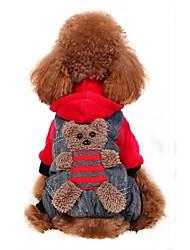 Perro Disfraces Abrigos Saco y Capucha Pantalones Ropa para Perro Fiesta Cosplay Moda Halloween Oso Amarillo Rojo