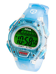 Kid's Fashion Watch Digital Water Resistant / Water Proof Noctilucent Rubber Band Black Blue Green Pink