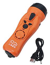 Polopa dq-syj-001 linterna auto-generadora de energía teléfono usb carga led alarma supervivencia iluminación mujer anti-lobo iluminación