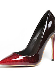 Women's Heels Formal Shoes Leatherette Spring Summer Wedding Party & Evening Dress Formal Shoes Stiletto Heel Ruby Beige 4in-4 3/4in