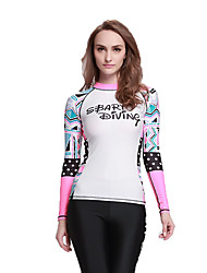 A Generation of Fast Sell Through Female Swimsuit Round Neck Long-Sleeved Sunscreen Jellyfish Clothing Fashion Printing Surfing Diving Suits