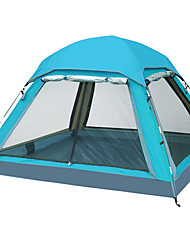 3 a 4 Personas Tienda Tienda con pantalla protectora Doble Carpa para camping Tienda de Campaña Plegable Impermeable Resistente al Viento