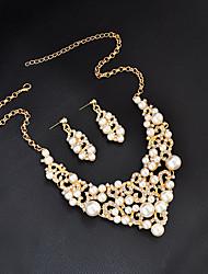 Mujer Collar Pendiente Perla artificial Cristal Diseño Básico Diseño Único Británico Moda Personalizado Euramerican Estilo Simple Joyas