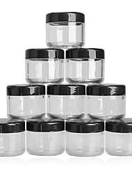 10Pcs 20g Plastic Empty Nail Stickers Box Nail Art Cosmetic Bead Storage Case Nail Rhinestone Container Transparent Organizer