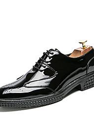 Для мужчин обувь Натуральная кожа Весна Осень Удобная обувь Формальная обувь Туфли на шнуровке На эластичной ленте Назначение Свадьба