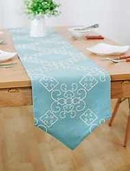 Embroidery Pastoral Embroidery Cotton And Linen Table Flag 30*180cm