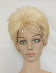 Capless Synthetic Women Blonde Short Curly Layered  Hair Wig