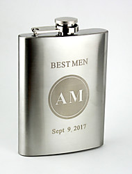 Personalized Stainless Steel  8-oz   Flask   Lettering Hip Flask