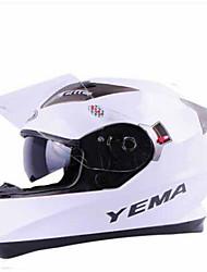 YEMA 829  Motorcycle Helmet Dual Lens Helmet Full Helmet Men & Women Winter Electric Vehicle Cross Country Running Helmet