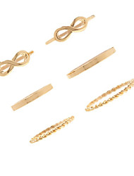 Midi Rings Euramerican Fashion Alloy Infinity Gold Jewelry For Party 6 pc