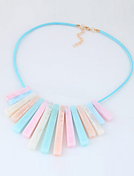 Women's Statement Necklaces Geometric Acrylic Alloy Tassels Euramerican Fashion Jewelry Party Daily 1pc