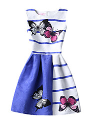 Girl's Print Dress Summer Sleeveless