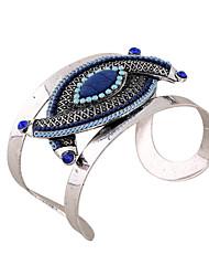 Mulheres Bracelete Pulseiras Algema Pulseiras de identificação Moda Vintage Estilo Boêmio Turco Resina Strass Jóias ParaOcasião Especial