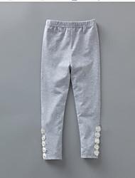 Pantalones Chica Un Color Algodón Primavera Verano