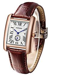 Women's Fashion Watch Wrist watch Quartz Calendar Leather Band Black Red Brown