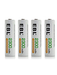 EBL Batteries 4 Pack 2300mah Ni-MH Widespread Lights Quick Charging Multifunction Camping/Hiking/Caving Everyday Use