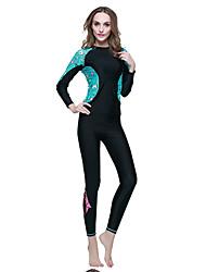 SBART Mulheres Roupas de mergulho Elastano Náilon Chinês Fato de Mergulho Manga Longa Roupas de Mergulho Blusas-Esportes Aquáticos