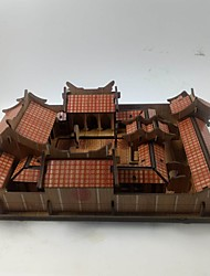 Jigsaw Puzzles 3D Puzzles Building Blocks DIY Toys Chinese Architecture House Wood