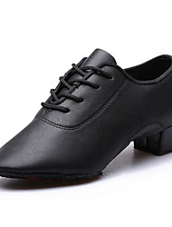 Women's Latin PU Heels Practice Black
