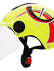 LS2  Of108  Motorcycle Helmet Summer Helmet Four And A Half Years Sunscreen Helmets With Silver Plated Lenses Yellow Sprint By Yellow Under The Single