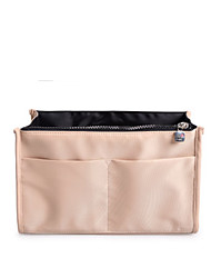 Women Storage Bag Nylon All Seasons Casual Square Zipper khaki Coffee Fuchsia Black