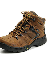Men's Athletic Shoes Comfort Snow Boots Fall Winter Real Leather Cowhide Hiking Shoes Athletic Casual Outdoor Office & Career Lace-up