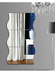 Wavy Mirror Stereoscopic Wall Stickers A Piece Of