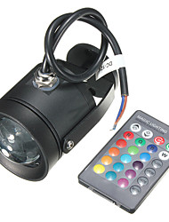 AC85-265V 10W RGB Colorful Remote Control LED Earth Lamp / Lawn Lamp 1Pcs