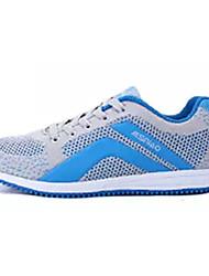 Femme Chaussures d'Athlétisme Confort Polyuréthane Printemps Automne Décontracté Marche Confort Lacet Talon PlatBleu de minuit Fuchsia