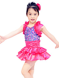 MiDee Kids' Dancewear Dresses&Skirts Children's Performance Satin