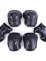 Men's Skating Skincare Knee Elbow Bracers 6 Pieces Adult Children's Skating Ice Skating Skateboard Skateboard Set